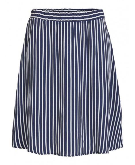 Falda rayas azul